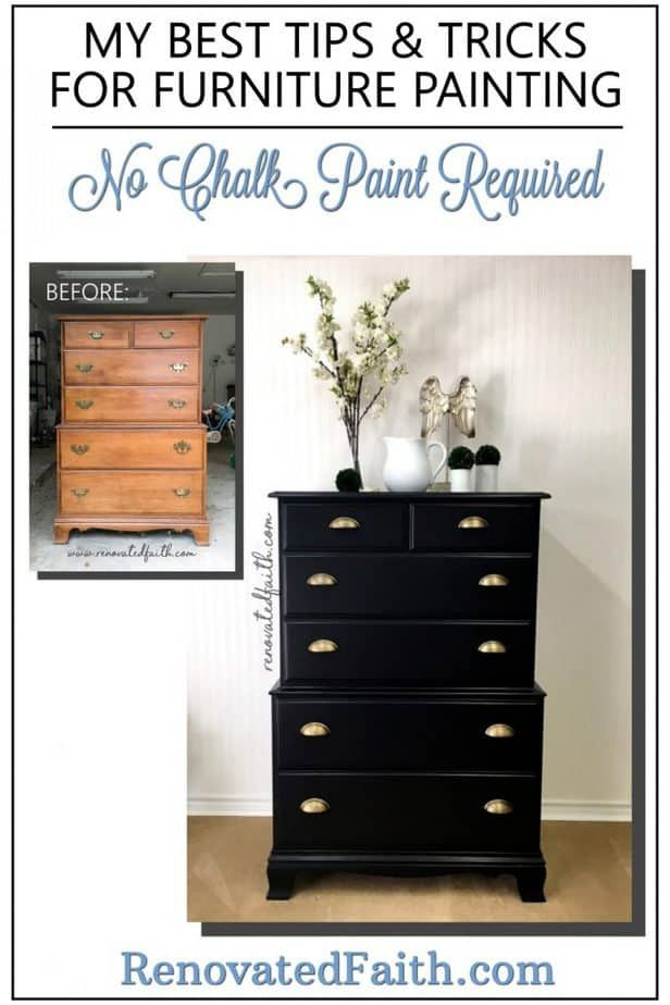 My Best Tips For Painting Furniture Black Dresser Reveal Black Painted Furniture Furniture Makeover Painted Furniture