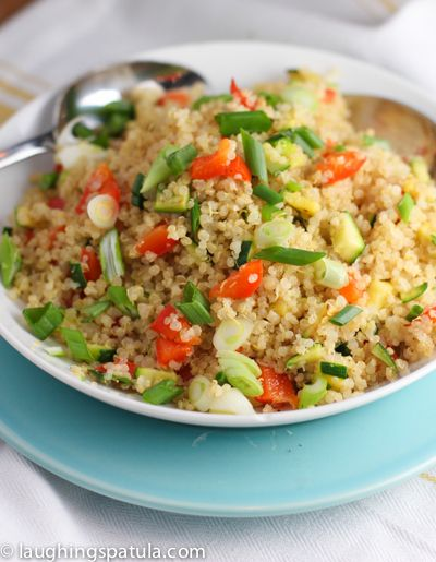 How to Oven Bake Quinoa, White and Brown Rice! No more watching the pot! Quinoa Pilaf.