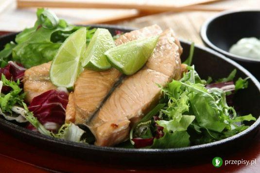 Łosoś po japońsku z wasabi #salmon #wasabi #cooking