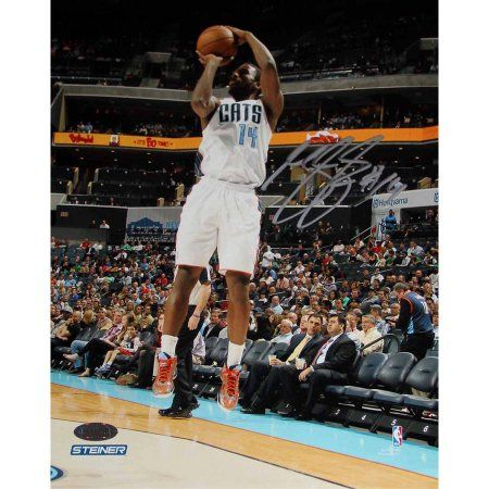 Michael Kidd-Gilchrist of Charlotte Bobcats Jump Shot in White Jesery Signed 8 inch x 10 inch Photo