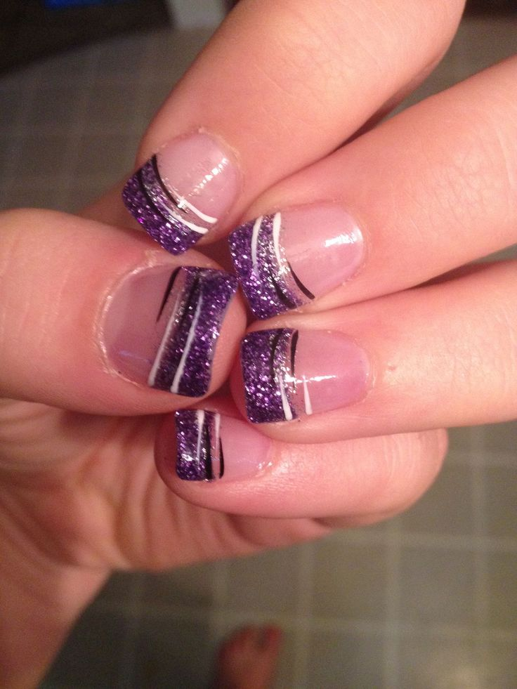 purple nail design ideas