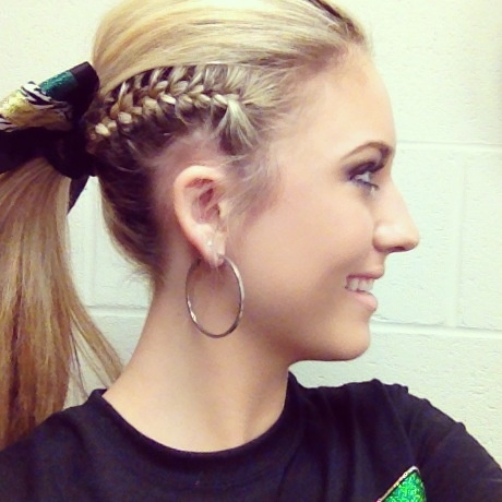 25 best images about hair ideas for cheerleaders on