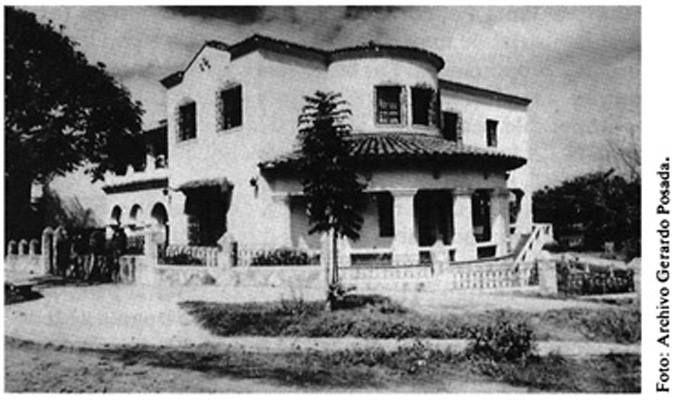 Así era la Mansión del Río en 1946, construida por el arquitecto antioqueño Gerardo Posada González para don Joaquín Gómez, fundador de la cadena de almacenes Jota Gómez.