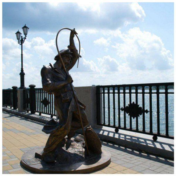 Памятник рыбаку на набережной #набережная #дон #ростовнадону #городростов