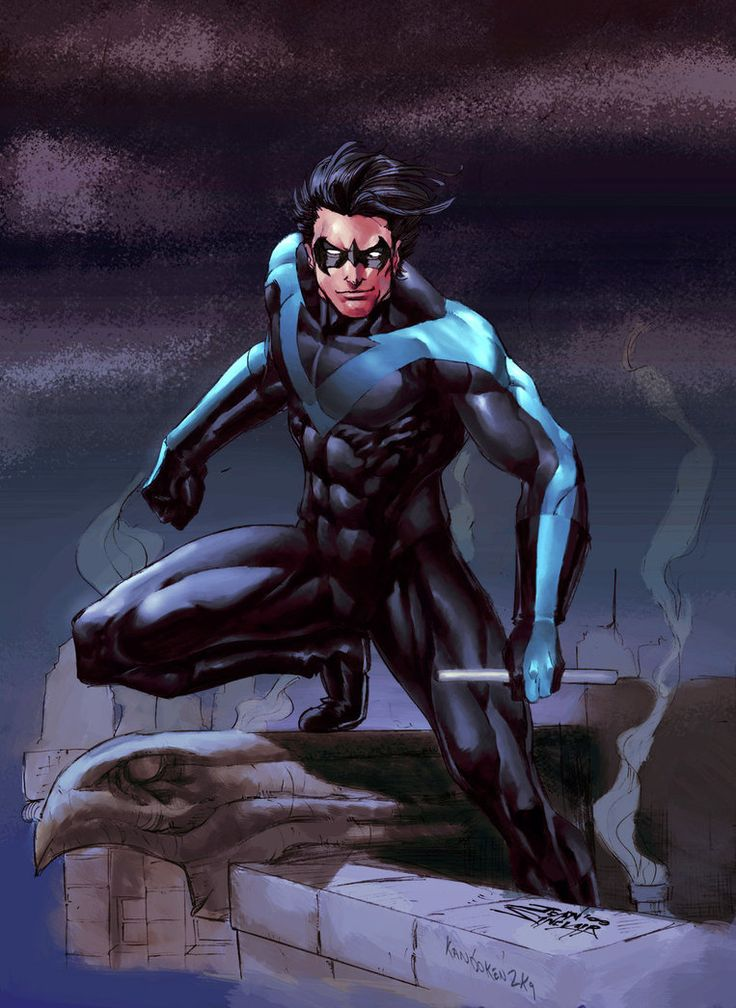 nightwing | Nightwing just whizzes past Winter Soldier in this round.