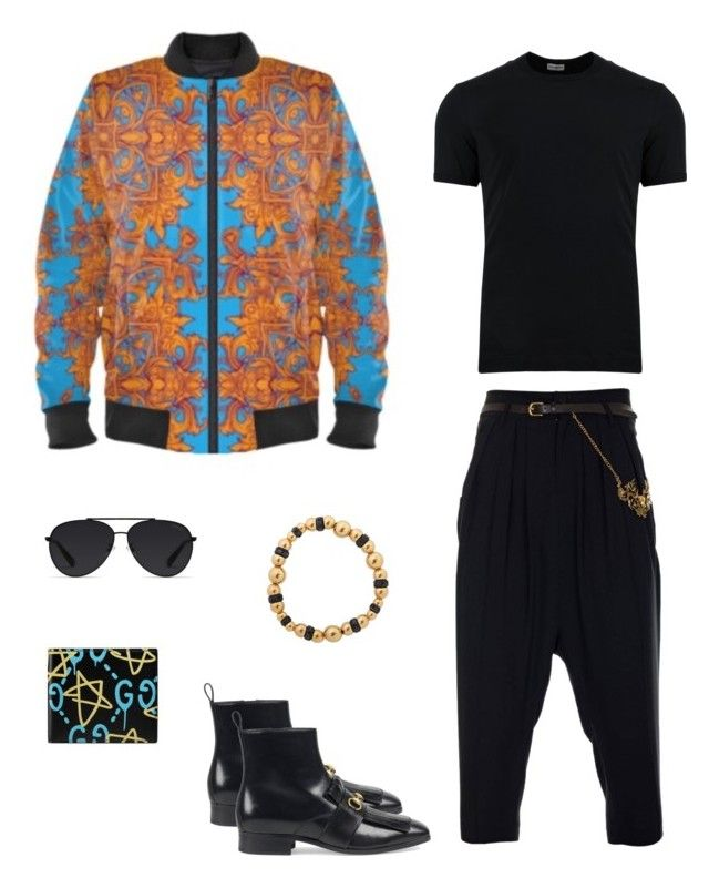 """Legion"" jacket ootd by guutanii on Polyvore featuring polyvore, Dolce&Gabbana, JIRI KALFAR, Gucci, Bally, Eklexic, men's fashion, menswear and clothing"