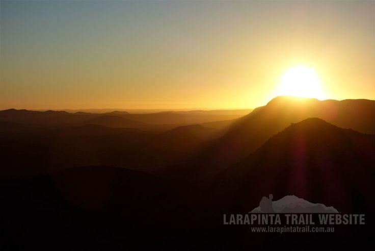 Beautiful sunrise on top of the world shot. Section 4. (http://www.larapintatrail.com.au/s4.html). © Explorers Australia Pty Ltd 2014