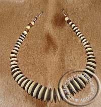 African Bone disk Necklace