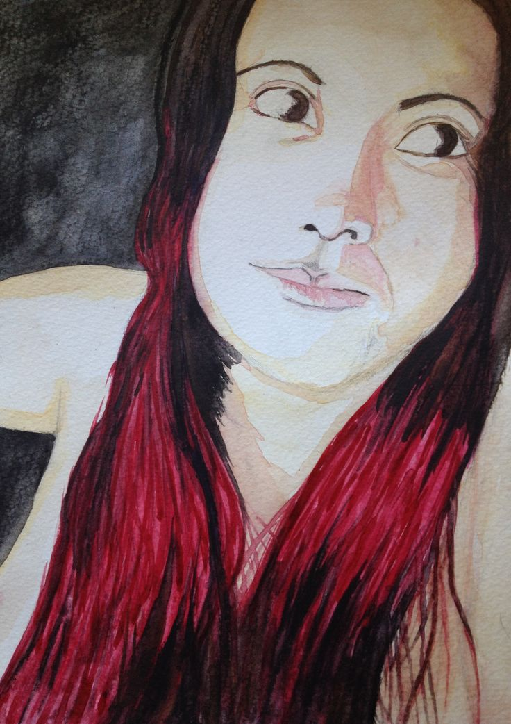 Learning Water Colours In Calgary. Gaby Rockstar. September 13th 2014.