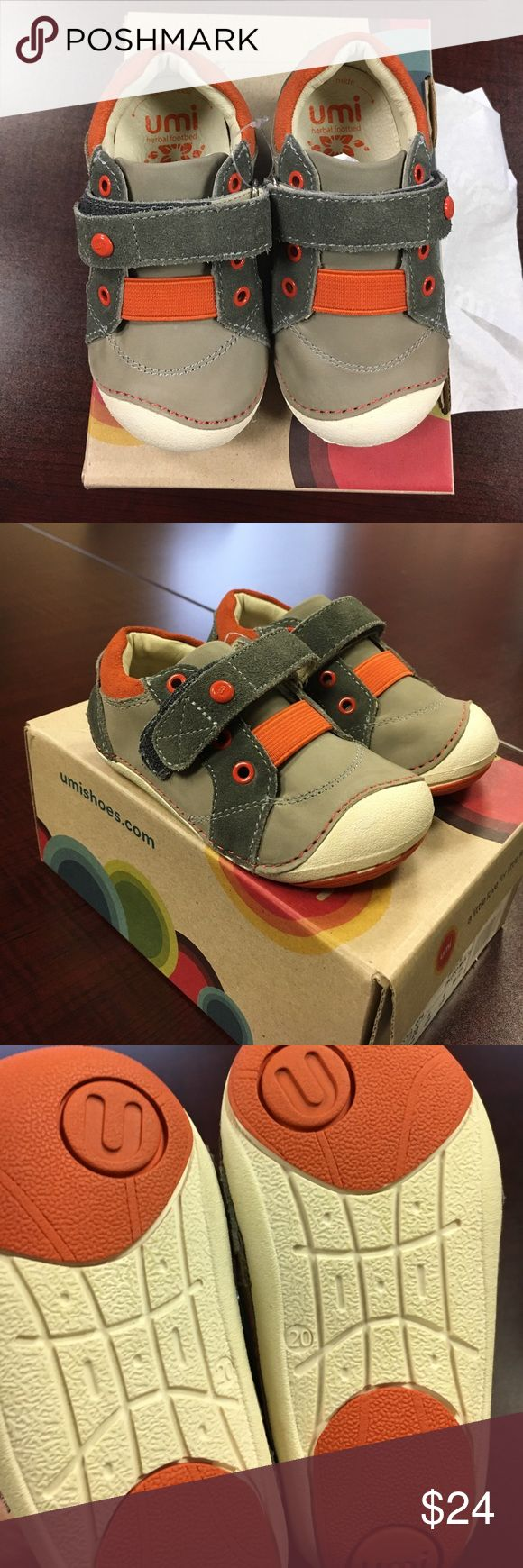 Umi baby boys Weelie gray and orange shoes Umi baby boys Weelie gray and orange shoes. These are great shoes and come brand-new in the box Umi Shoes Sneakers
