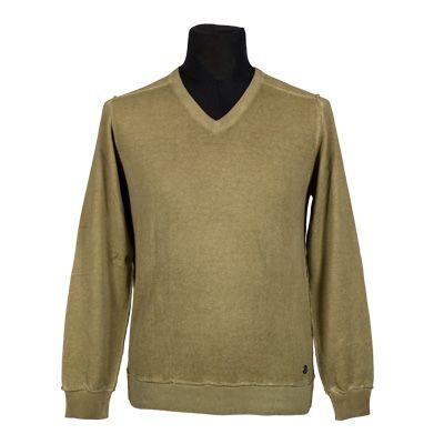 Maglia - NEROVAGO - Maglia in puro cotone manica lunga - Tortora - Estivo. € 24,00. #hallofbrands #hob #maglia #sweater #jersey #knitwear