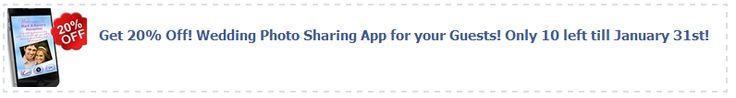 Grab a Facebook coupon for 20% off the ourphotoopp.com Wedding Photo Sharing app