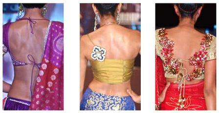 stunning saree blouse designs   Backs    saree blouse design