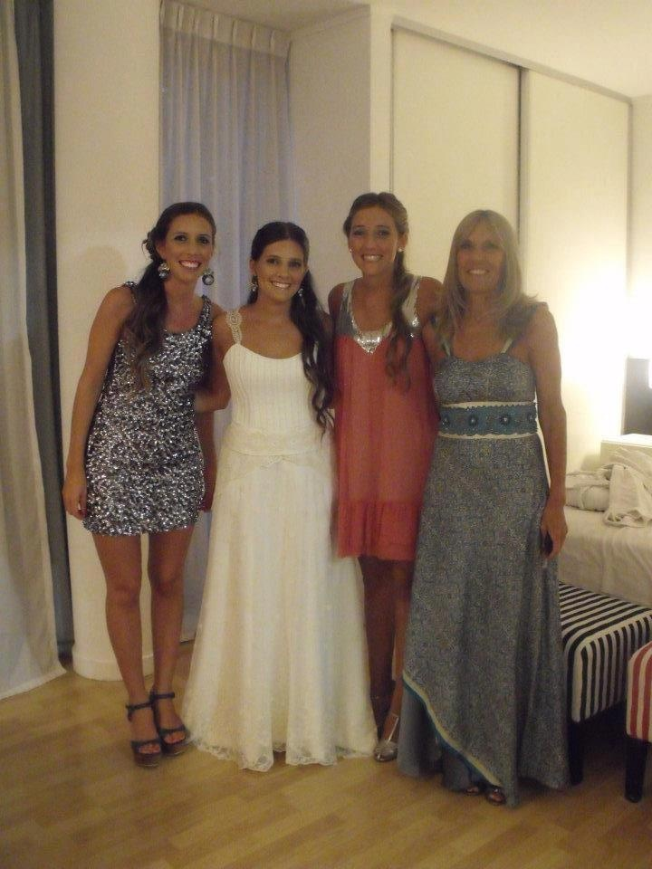 Peinados novia, madrina y hermanas