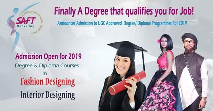 Finally A Degree That Qualifies You For Job Admission Open 2019 Degree And Diploma Courses In Fashion And Inte Diploma Courses Degree Diploma Fashion Design