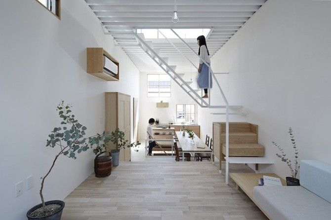 Structural Storage in a Smart and Skinny Home - Remodelista