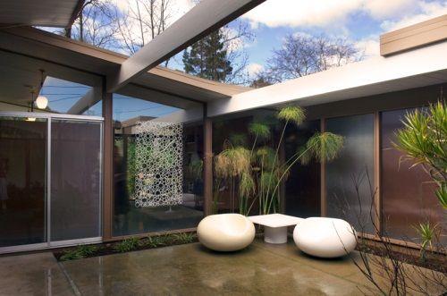 Love the atrium!Mid Century Modern, Dreams Home, House Design, Landscapes Ideas, Courtyards Design, Eichler Home, Mid Century Home, Design Studios, Dreams Patios