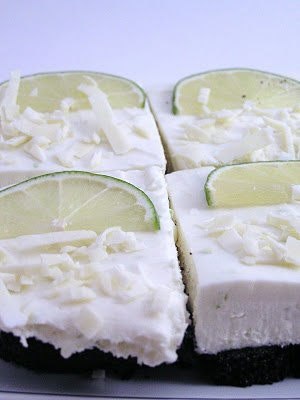 White Chocolate and Lime Cheesecake Bars | A Chef's Dream | Pinterest