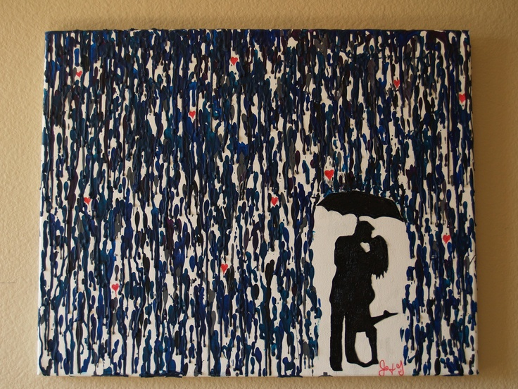 This is My painting I did of Jonathan and I with a hot glue gun and crayons!! It sure was messy but one of my faves. I got the idea from lightandspoon.wordpress.com.