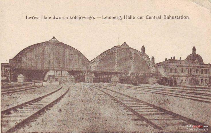 Dworzec Główny (Головний залізничний вокзал), Lwów - 1910 rok, stare zdjęcia