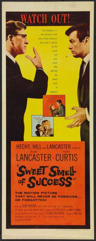 tony curtis movie posters | Insert movie poster: Tony Curtis and Burt Lancaster in Sweet Smell of ...