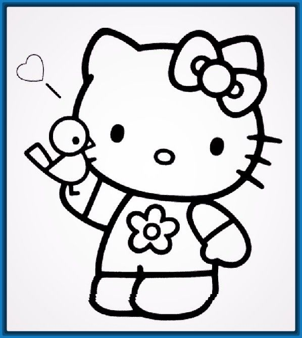 Resultado De Imagen Para Imagenes De Frozen Para Colorear Hello Kitty Colouring Pages Kitty Coloring Hello Kitty Printables