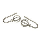 Found it at Wayfair - Modern Cage Holdback / Tieback in Satin Nickel (Set of 2)