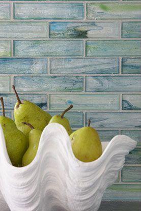 closeup of backsplash rachel reider interior designs glass tile bathroom
