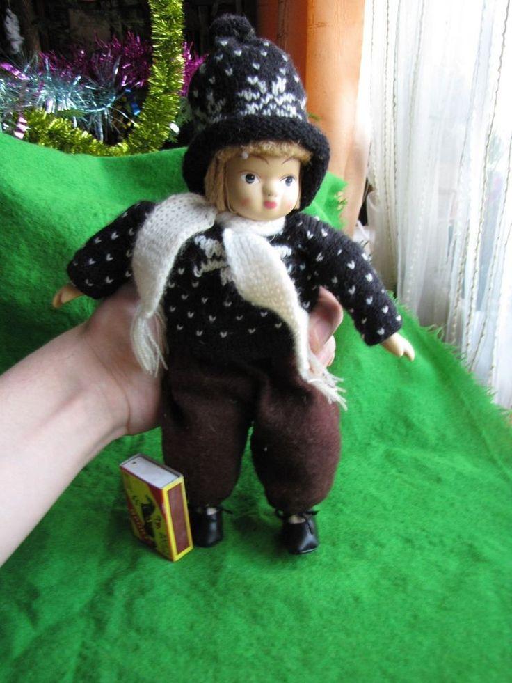 Vintage Porcelain Doll European tradicional Costume Soft Heavy Bought in Sweden