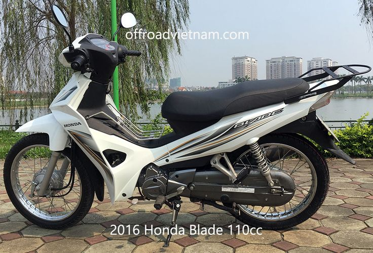 Offroad Vietnam Used Scooters For Sale In Hanoi - 2015 white Honda Blade 110cc. White with drum brakes
