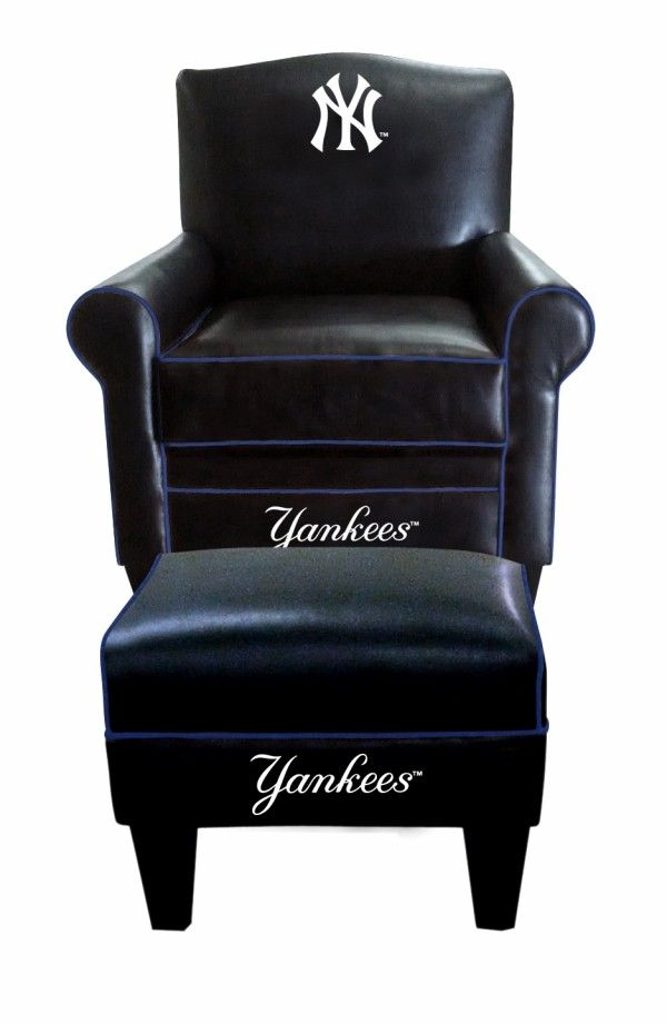 New York Yankees MLB Game Time Chair U0026 Ottoman/Footstool Furniture Set
