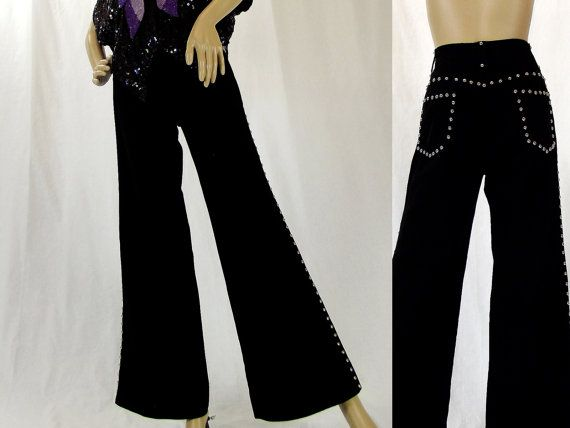 Groovy Vintage / Size S / Flared Pants / 70s by VintageSquirrels