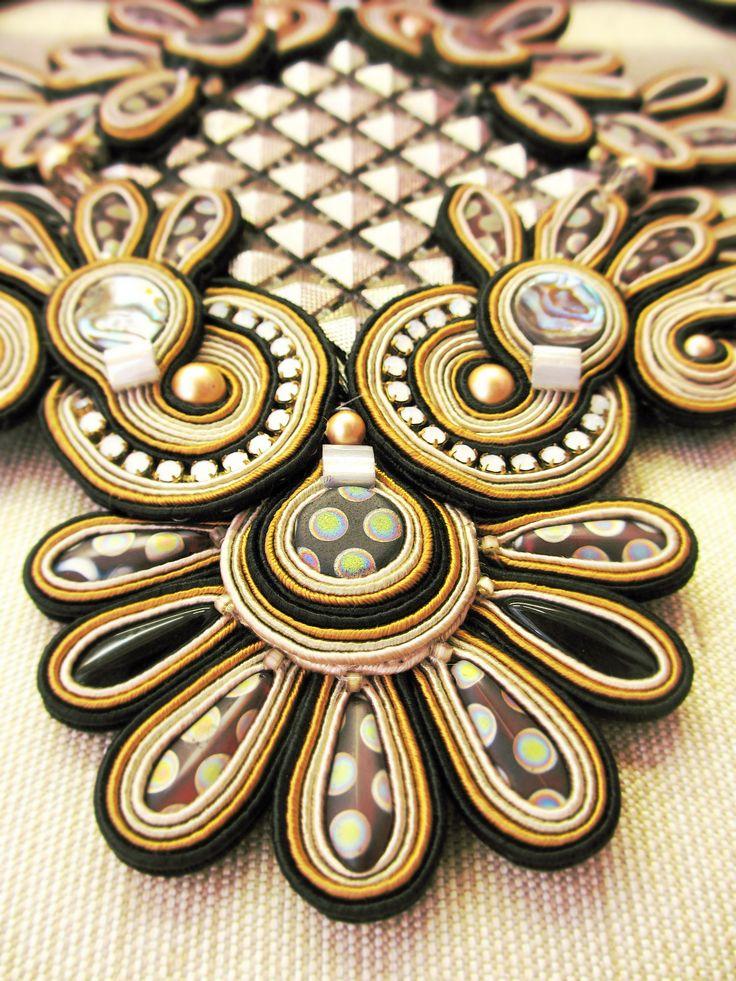 A detail from our Wings haute couture necklace. #DoriCsengeri #hautecouture #statement #necklace