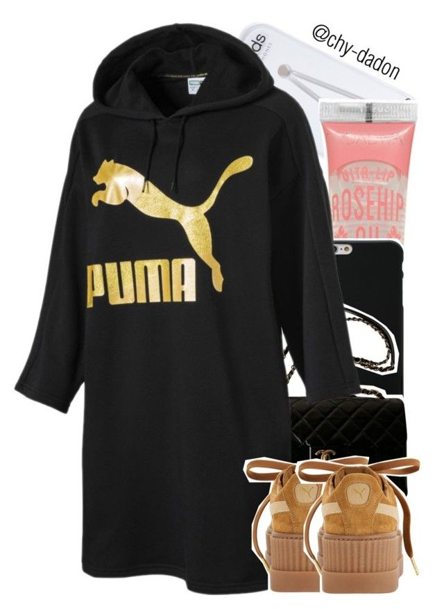 """""""Untitled #1308"""" by chy-dadon ❤ liked on Polyvore featuring River Island, Givenchy, Chanel and Puma"""