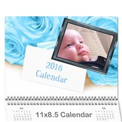 Roses for you (any Year) 2016 Calendar - Wall Calendar 11 x 8.5 (12-Months) Just add your own photos by Deborah on Artscow