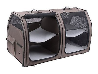 Carriers and Crates 116362: Cat Show House Portable Dog Kennel (Shelter) Red / Cream / Tan Cat Show House BUY IT NOW ONLY: $198.61