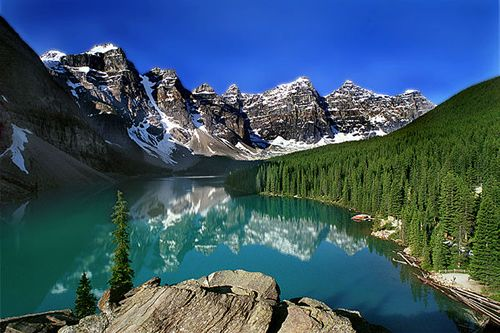 Rockies (Colorado). Not a good link, but a fantastic picture:)