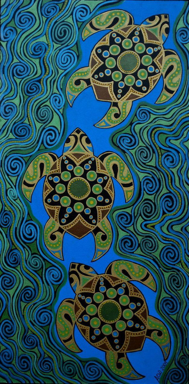 Sea Turtles by *acwaltz on deviantART