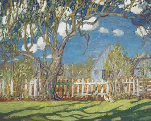 Arthur Lismer,  Springtime on the Farm Fine Art Reproduction Oil Painting