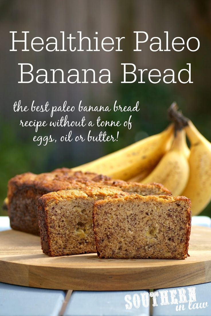 The Best Healthier Paleo Banana Bread Recipe - low fat, gluten free, low sugar, refined sugar free, low carb, dairy free, grain free