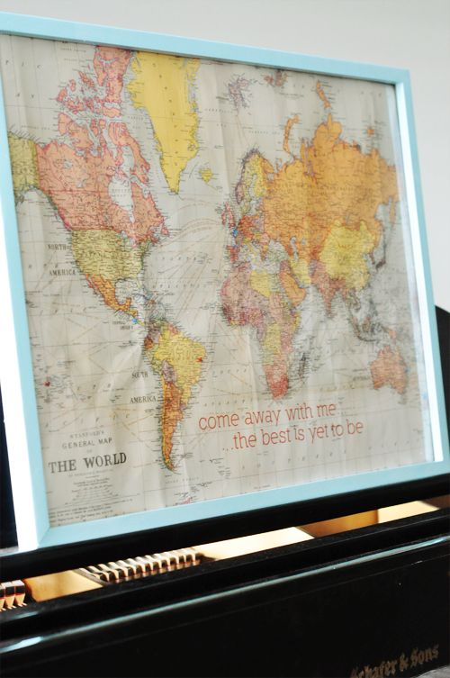 Best 25 world map crafts ideas on pinterest us world map world personalized world map diy project frame world map and sew little marks in all the sciox Gallery