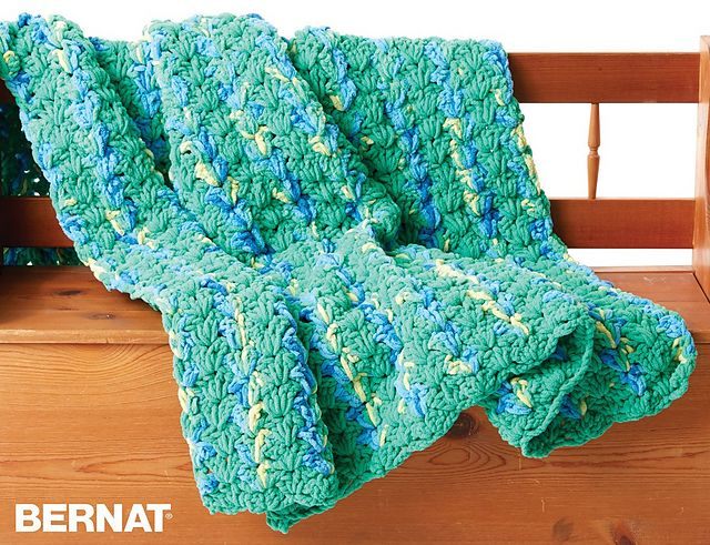 Ravelry: Bright and Easy Blanket pattern by Bernat Design ...