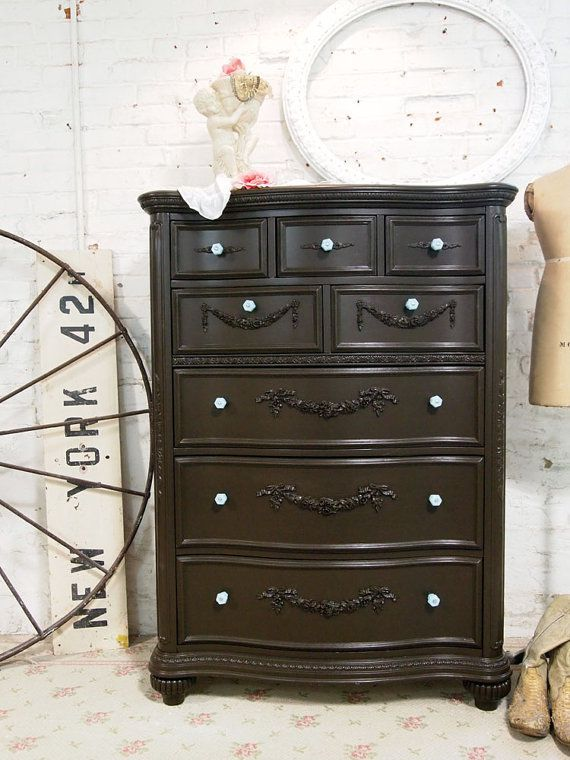 Painted Cottage Shabby Espresso Dresser with by paintedcottages, $825.00