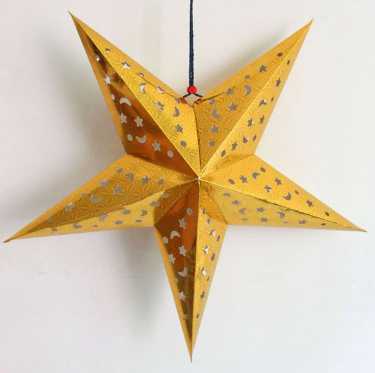 8 best 18 star lampshade lanterns images on pinterest paper star paper star lanterns12 inch gold star paper lantern30cm oitems aloadofball Images