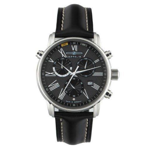 Zeppelin-Mens-Quartz-Watch-LZ127-Transatlantik-76962-with-Leather-Strap
