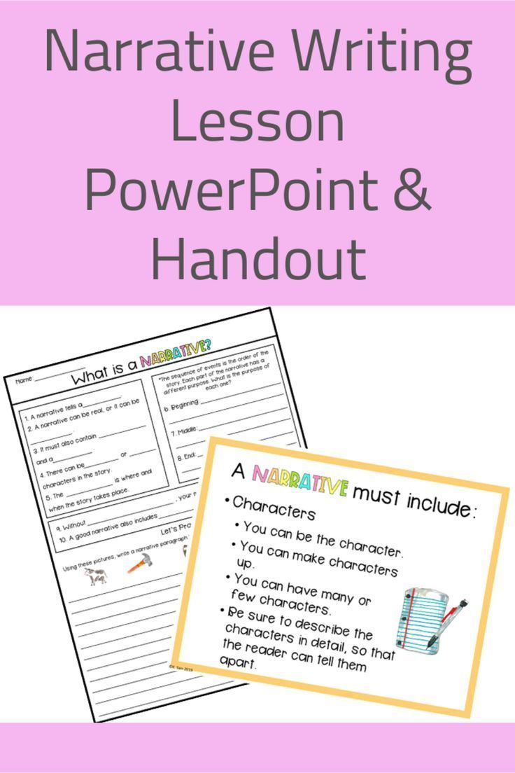 medium resolution of Narrative Lesson with PowerPoint and Handout