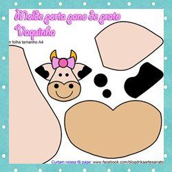 Molde de Porta Pano de Prato de Vaquinha: Apply, Cows Kitchens, Door Cloth, De Vaquinha, Plate, Felt Flanel, Door, Felt Ideas, Kitchen