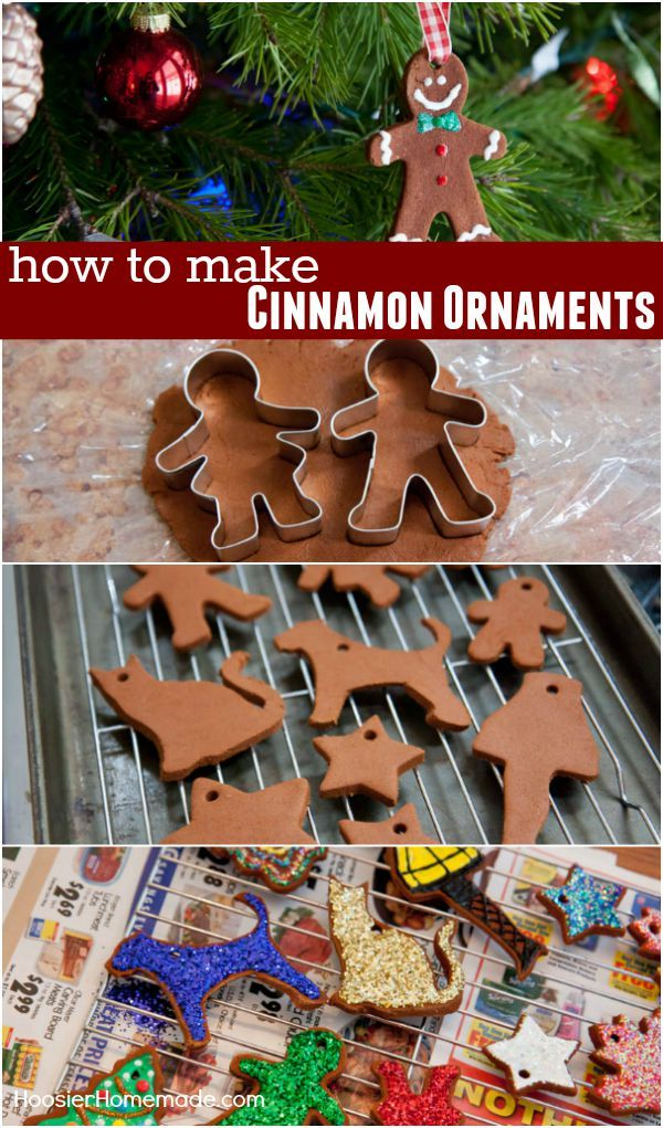 Just like you made when you were a kid! These Cinnamon Ornaments take only 3 ingredients! Visit our 100 Days of Homemade Holiday Inspiration for more recipes, decorating ideas, crafts, homemade gift ideas and much more!