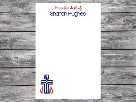 Presbyterian Church U.S.A. Cross Personalized Notepad 4x6