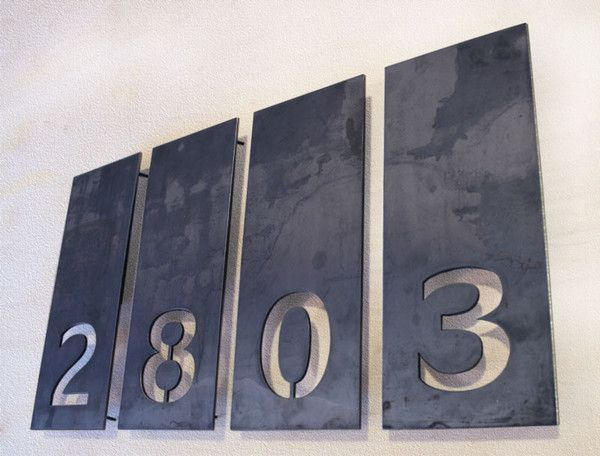 Industrial House Numbers? The Allandale House Numbers – Bold MFG